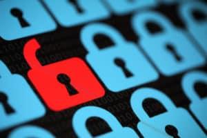 MSP Security - Red unocked lock